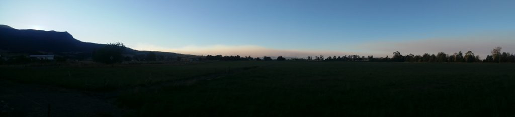 Smoke plume from the Mole Creek complex